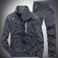 Slim Mens Sweat Suits Sets Tracksuit Male Casual Sweatshirts Men Sweatsuits Fitness Jacket Sporting Suits Coat + Sweatpants S201