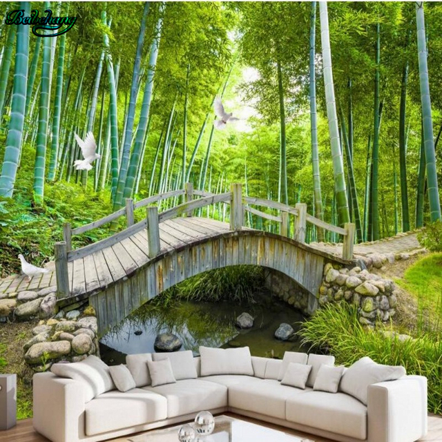 Small Bridges: Beibehang Large Set Of Small Bridges Water Bamboo Forest
