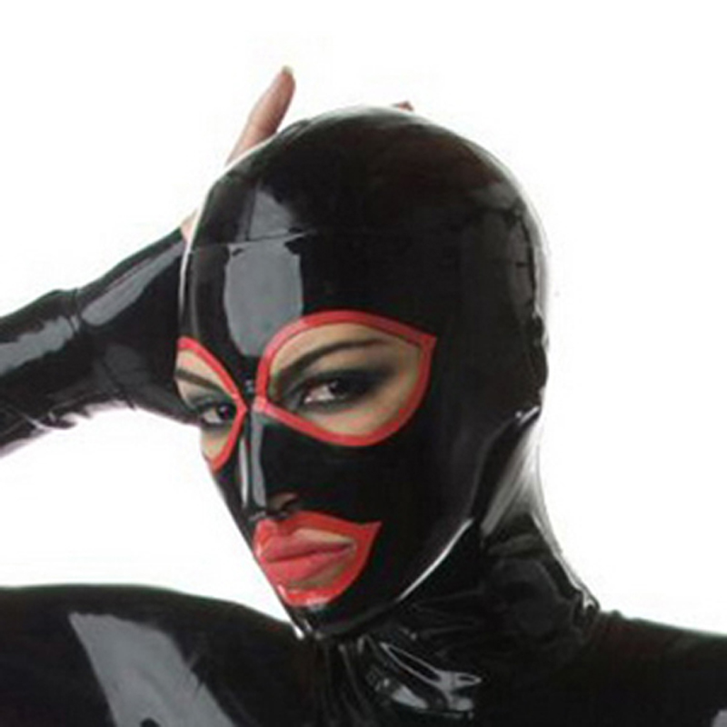 Unisex Latex Hood Gummi Mask Natur Handgjord Latex Mask Face Plus Storlek Anpassa Service