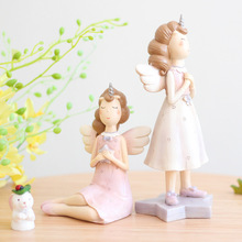 Angel Unicorn Resin Fairy Garden Miniature Figurine Flower Plant Pot Craft Desktop Ornament Vintage Home Decoration