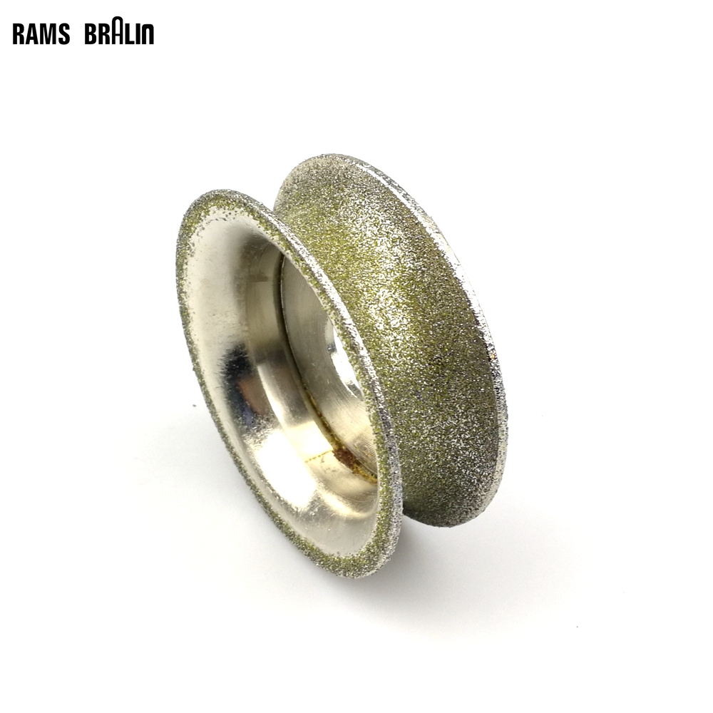 75*20mm Diamond Grinding Wheel Bracelet Molding Tool P80 Stone Concave Chamfer Edge Grinding Wheel 100mm od 20mm hole 35mm thickness hardware parts diamond grinding wheel 240