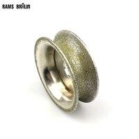 75*20mm Diamond Grinding Wheel Bracelet Molding Tool P80 Stone Concave Chamfer Edge Grinding Wheel