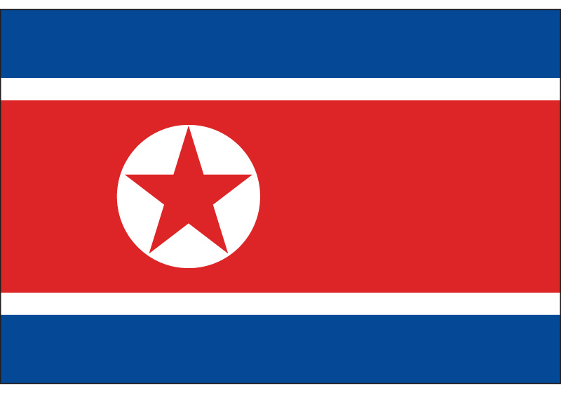 North Korea Flag 90*150cm/60*90cm 3x5ft Hanging Flag For National Day Event Office image