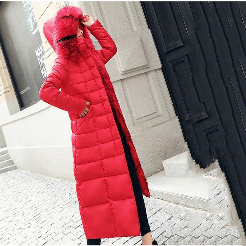 2020 nouvelle mode longue Parkas veste femmes hiver coton veste à capuche chaud manteau col de fourrure épais mince coton manteau femme LQ001