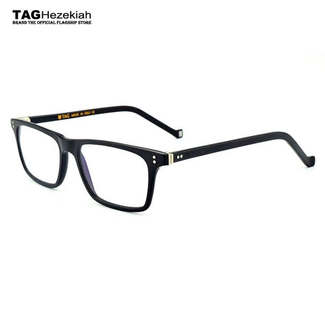 41491d4890 2018 New glasses frame women men fashion Small square handmade Retro  eyeglasses designer brand College Italy