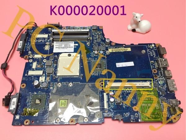ФОТО laptop motherboard for toshiba satellite A500 s1 amd series K000020001 NSKAE LA-5382P