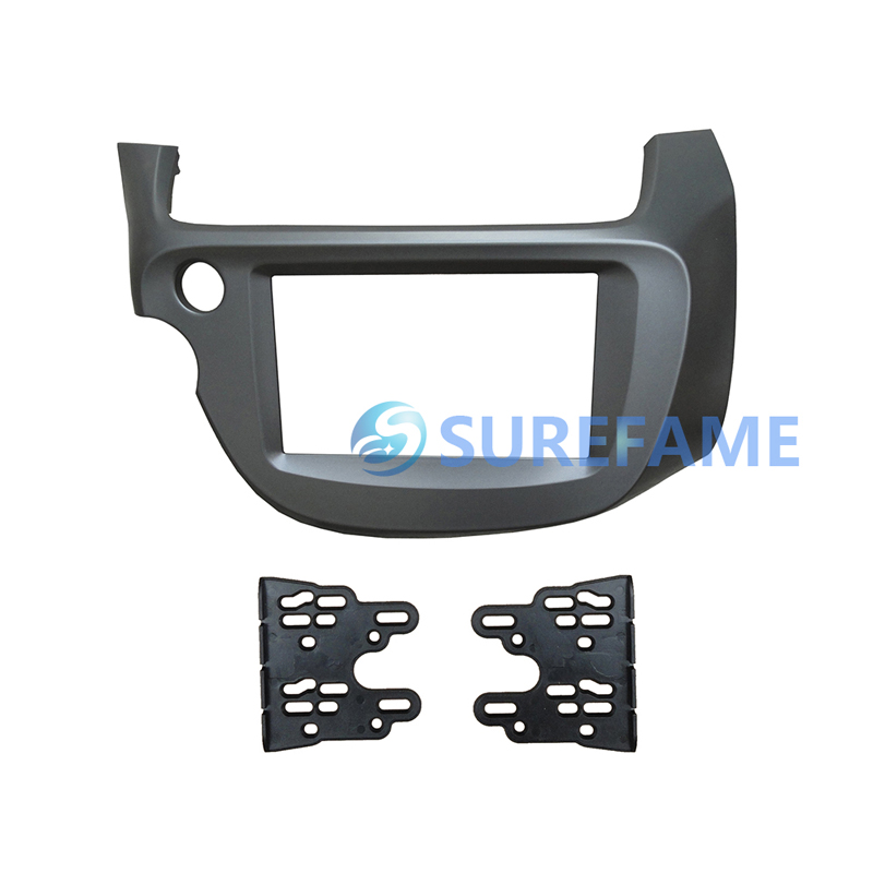 Facia Double Din Car Radio DVD Face Plate Frame for Honda Jazz Fit 2008 2013 LHD