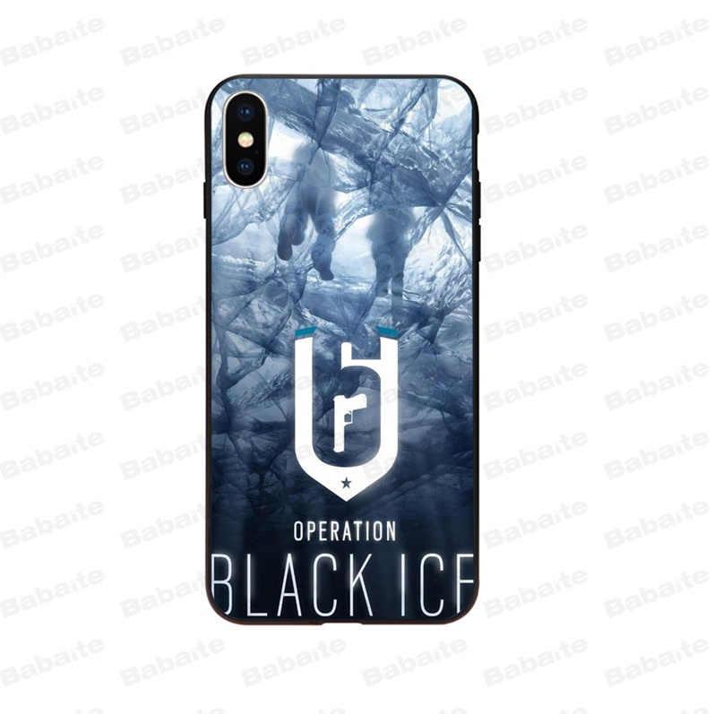 Babaite Rainbow Six Siege TPU Silicone Souple Noir Téléphone étui pour iphone 8 7 6 6S Plus 5 5S SE XR X XS MAX Coque Coque