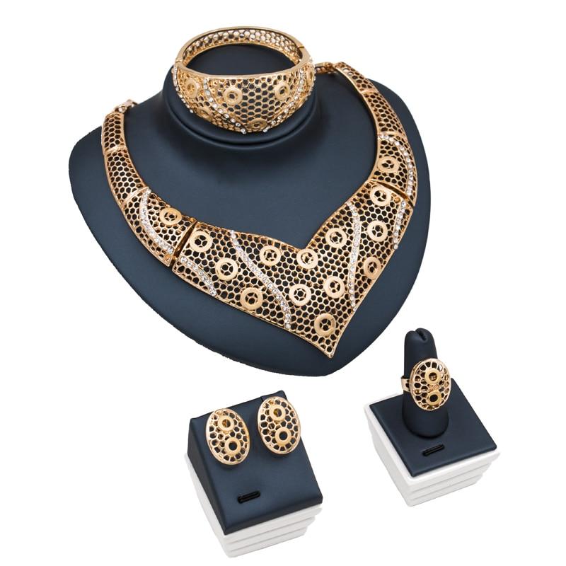 Ювелирные гарнитуры de Bijoux bagues Colliers браслеты букле Африканские свадебные украшения колье серьги Кольца Браслеты Бесплатная доставка