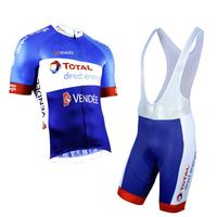 pro team total Direct Energie bike racing cycling jerseys kit summer breathable cycle cloth MTB Ropa Ciclismo maillot GEL pad