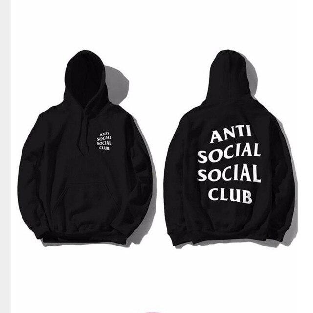 ANTI SOCIAL CLUB hoodie hip hop Kanye West Cotton Hoodies Men Sweatshirt assassins creed Anti Social Social Club Men Pullover