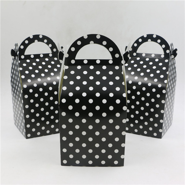 Black Theme Gifts Boxes Happy Birthday Party Baby Shower Decoration
