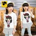Cotton Kids Cartoon Cute T-shirt Roupas Infantis menina The Clotes Children Summer T-shirts For Kids Tops Tees Girls 50H128