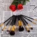 Bobi 9 unids profesional Pincel de Maquillaje de pelo de cabra Natural Set con Negro Premium Caja de Lujo, envío gratis