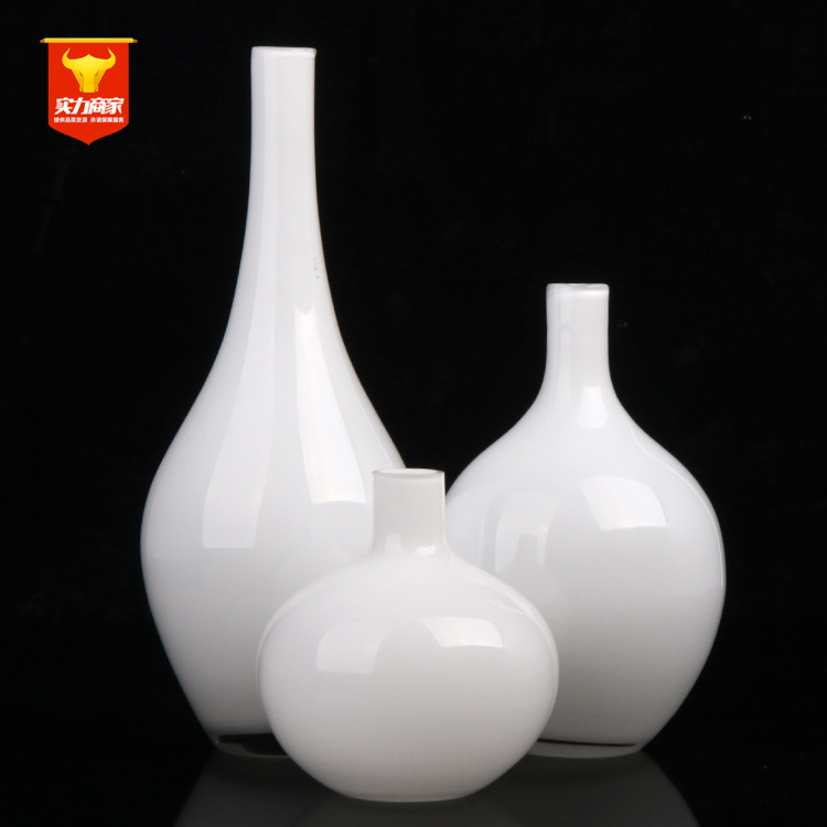 Home vase white porcelain vase a European flower in the living room