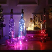 2M 1M LED Garland silver Wire String Fairy Lights for Glass
