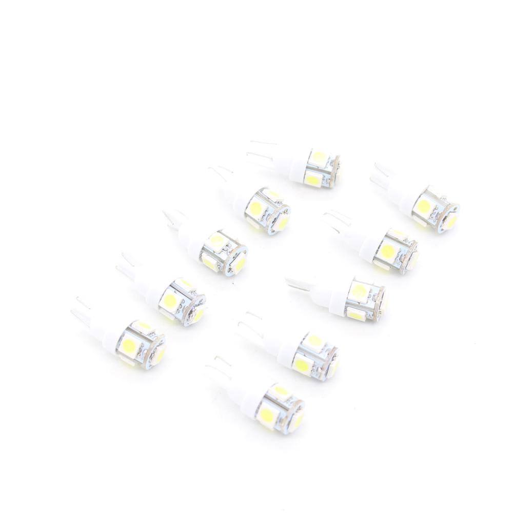 10pcs  Auto T10 5 LED 1W 5050 W5W Wedge Door Parking Bulb Light Car 5W5 LED Dome Festoon C5W C10W License Plate Light  DRL 10pcs auto t10 5 led 1w 5050 w5w wedge door parking bulb light car 5w5 led dome festoon c5w c10w license plate light xenon drl