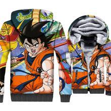 2018 New Arrival Anime Men's Hoodies Autumn Winter Fleece 3D Print Jackets Hip Hop Sweatshirts For Men Dragon Ball Z Swag Hoody new fashion 3d print jackets male coat autumn winter sweatshirt 2018 thick hooded hoody swag hip hop men s sweattshirts hoodies