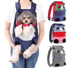 Cute Pet Carrier Portable 4 Holes Backpack Colors Small Dog Travel Bag Breathable Canvas Mesh Stripe Outdoor Cat