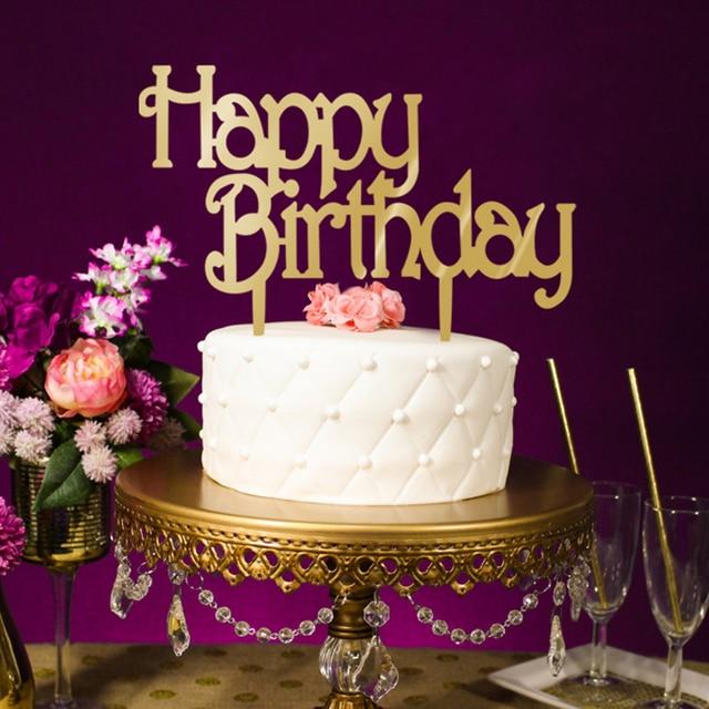 Happy Birthday Party Decorations Acrylic Cakes Topper Cake Decor Wholesales