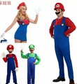 2014 new Super Mario disfraces clásicos de Halloween cosplay pantalones del babero del traje coaplay electricista de agua suit Family Pack