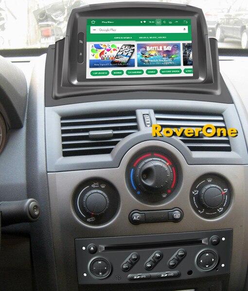 RoverOne Android 8,0 автомобильный мультимедийный плеер для Renault Megane 2 II Fluence Авто Радио Bluetooth DVD Радио Стерео gps навигации