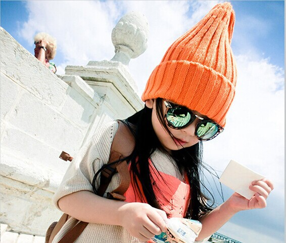 (15colors )2017 NEW FREEshipping fashion children casual unisex wool hat plain design warm colorfyl beanies stretchable 45-55cm