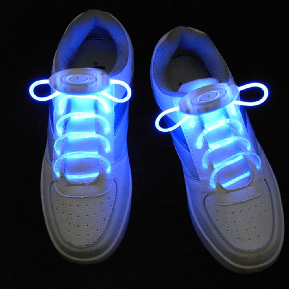 2Pcs LED Shoelaces Flash Light Up Glow Stick Strap Shoe Laces Disco Party Hot Led Shoelaces with Battery (NOT INCLUDED) 1 pair led sport shoe laces flash light glow stick strap shoelaces blue pink green yellow worldwide sale