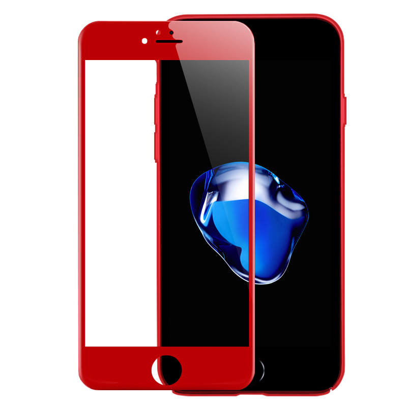 """4D (2nd Gen 3D) Full Cover Tempered Glass For iPhone 7 7 Plus Curved Explosion protection Film 9H Hard Case On 7 7PLus 4.7"""" 5.5"""" 9"""