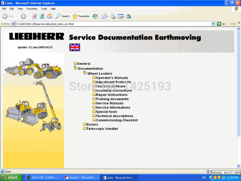 Liebherr Lidos 2018 Services manuals DVD OFFLINE+HDD500GB yale service manuals class 4 [2014] wiring diagrams and service manuals