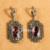 Jenia new arrival red cristal austríaco conjunto de jóias pingente e brincos define thai marcasite prata xs112