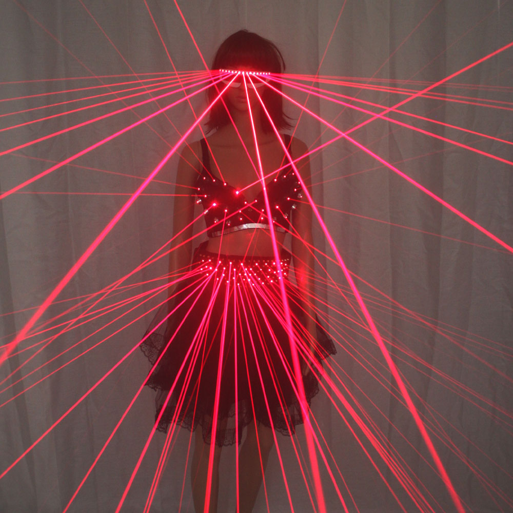 Red LED Clothes, Laser Suits Sexy Girl Bra,Led Glasses For Nightclub Performers