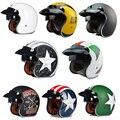 Torc 3/4 open cara vintage scotter jet casco de la motocicleta capacete motocross cascos moto retro casque casco párrafo motocross vespa