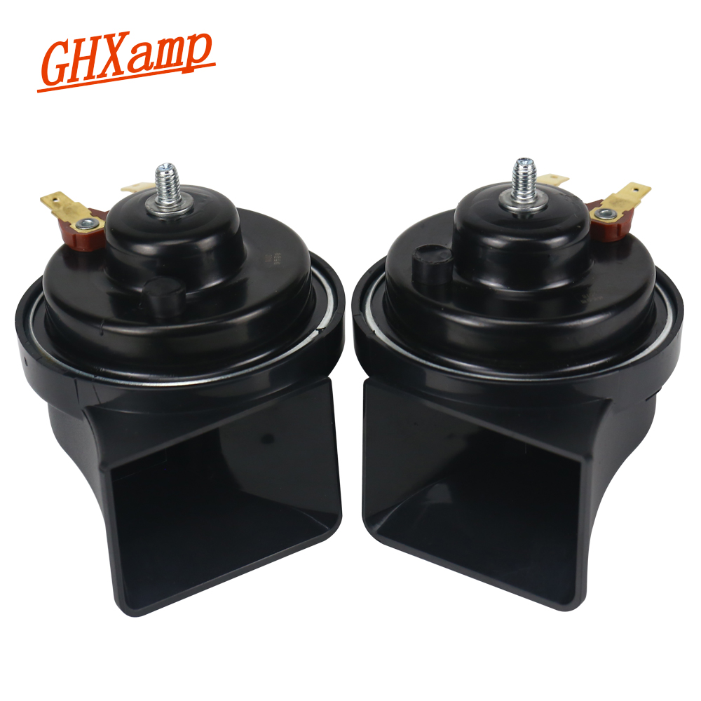 GHXAMP 12V Car Sanil Horn <font><b>Speaker</b></font> <font><b>Waterproof</b></font> <font><b>Speaker</b></font> Whistle Big Loud Tweeter Bass Modified Motorcycle Universal 24V High end