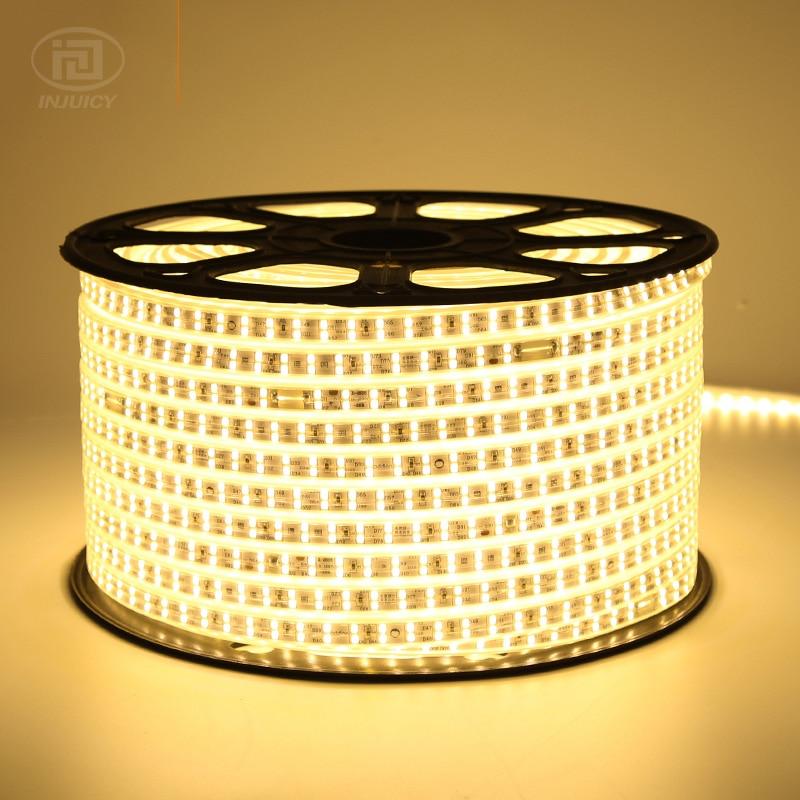 20M 50M 100M High Power SMD2835 LED Strip Light Flexible Outdoor Waterproof Double Row LED Strip 2835 180leds/M 110V 120V IP65
