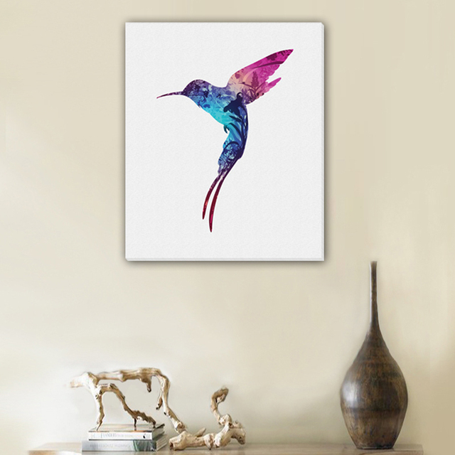 Frameless Colored bird Canvas Painting Oil Painting Print Naturally Home Decor Art Picture Wall For Living & Frameless Colored bird Canvas Painting Oil Painting Print Naturally ...