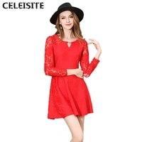 Celeisite nowy bodycon peplum flower lace floral dress vestidos o-neck sexy mini wieczorne party kobiety sukienki odzież c154