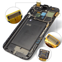 Super AMOLED pantalla para Samsung Galaxy Nota 2 N7100 N7105 Nota $ Number Pantalla LCD Táctil Digitalizador Asamblea