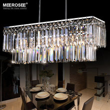 Modern Crystal Chandelier Lighting Fixture Rectangle Crystal Lamp Lustres Living Room Hotel Project Light Free Shipping(China)