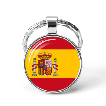 Southern European Countries Flag Keychain Spain Italy Portugal Greece Romania Croatia Andorra Flag Keychain Foreign Friends Gift image