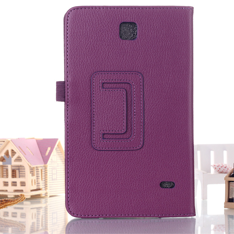 Litchi Pattern PU Leather Case for Samsung Galaxy Tab 4 8.0 T330 T331 T335 8