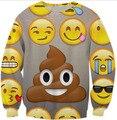 Smiley face 3D Printed Crewneck Sweats Women Fashion Clothing Emoji Sweatshirt Hoodied Tops poo Outfits Jersey Streetwear