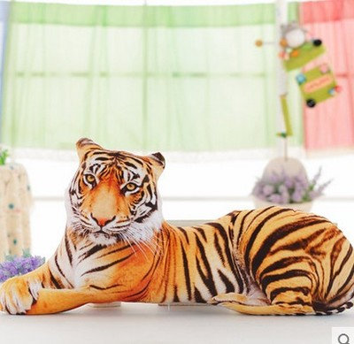Grand coussin de jet mou de jouet de peluche de tigre de simulation dimensionnelle 3D, coussin environ 90 cm 0070