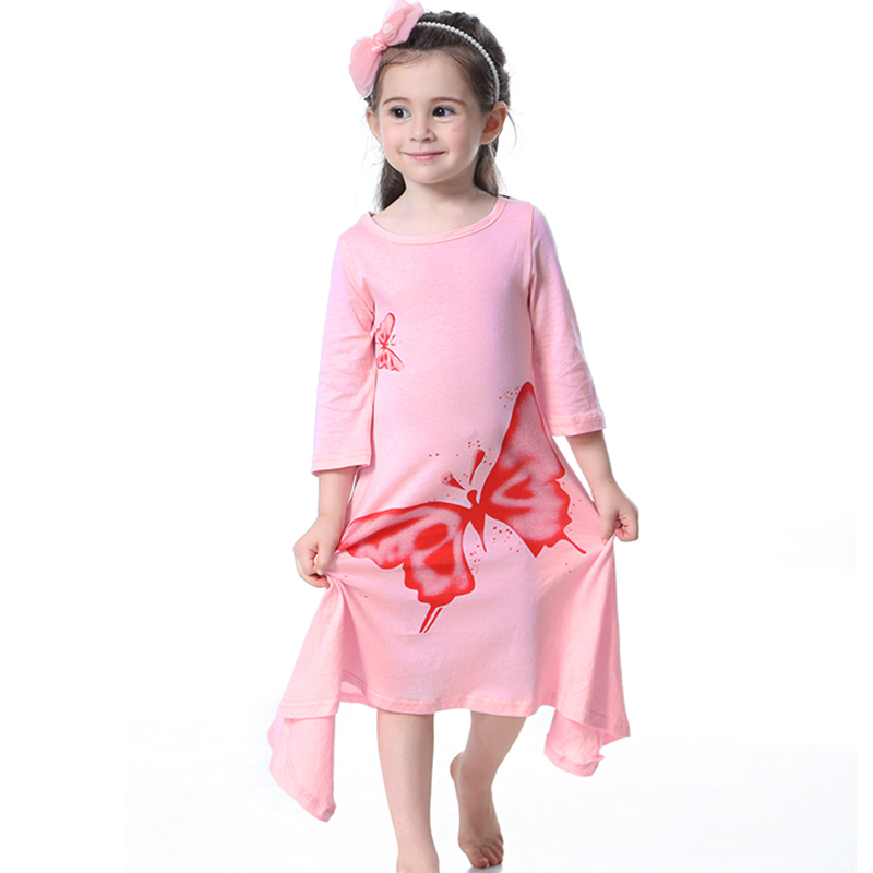 f3069660d14e Aliexpress.com : Buy New Toddler Kids Girls Maxi Dresses Spring Butterfly  Printed Long Sleeve Long Dress Kids Cotton Clothes For Girl Clothing Summer  from ...