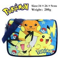 Anime Pokemon Pikachu Student School Bag Printed Shoulder Bag Kids Book Bag Satchel Messenger Bag Cute