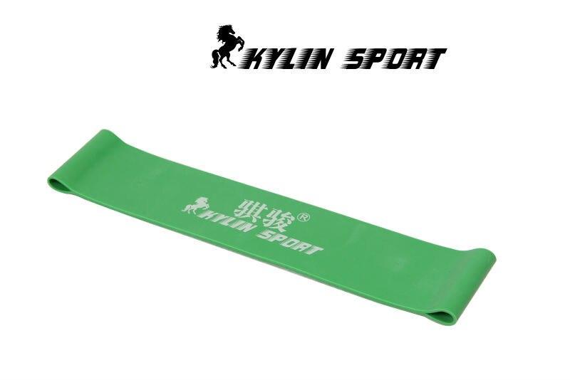 Set of 2 green latex resistance workout excercise pilates yoga bands loop wrist ankle elastic belt energy ring