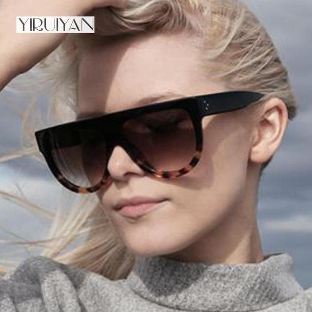 e4a09fd0c41 5 pieces wholesale Woman Flat Top Mirror Sun Glasses Cat Eye Sunglasses  brand Designer glasses Women Fashion Eyewear oculos