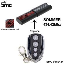Für SOMMER 434,42 MHz Garagentor Fernbedienung SOMMER Sender Kompatibel 4014 TX03-434-2 4013 TX02-434-4 Tor Opener 2021