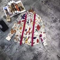Модные женские блузы и рубашки 2019 взлетно посадочной полосы Элитный бренд Европейский дизайн вечерние Стиль Женская Костюмы WD031050