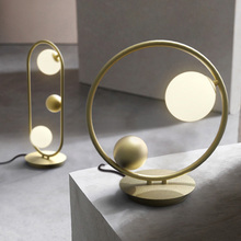 Modern ball glass table lamp creative LED desk lights nordic minimalist personality bedroom bedside lamp living room office lamp цены онлайн